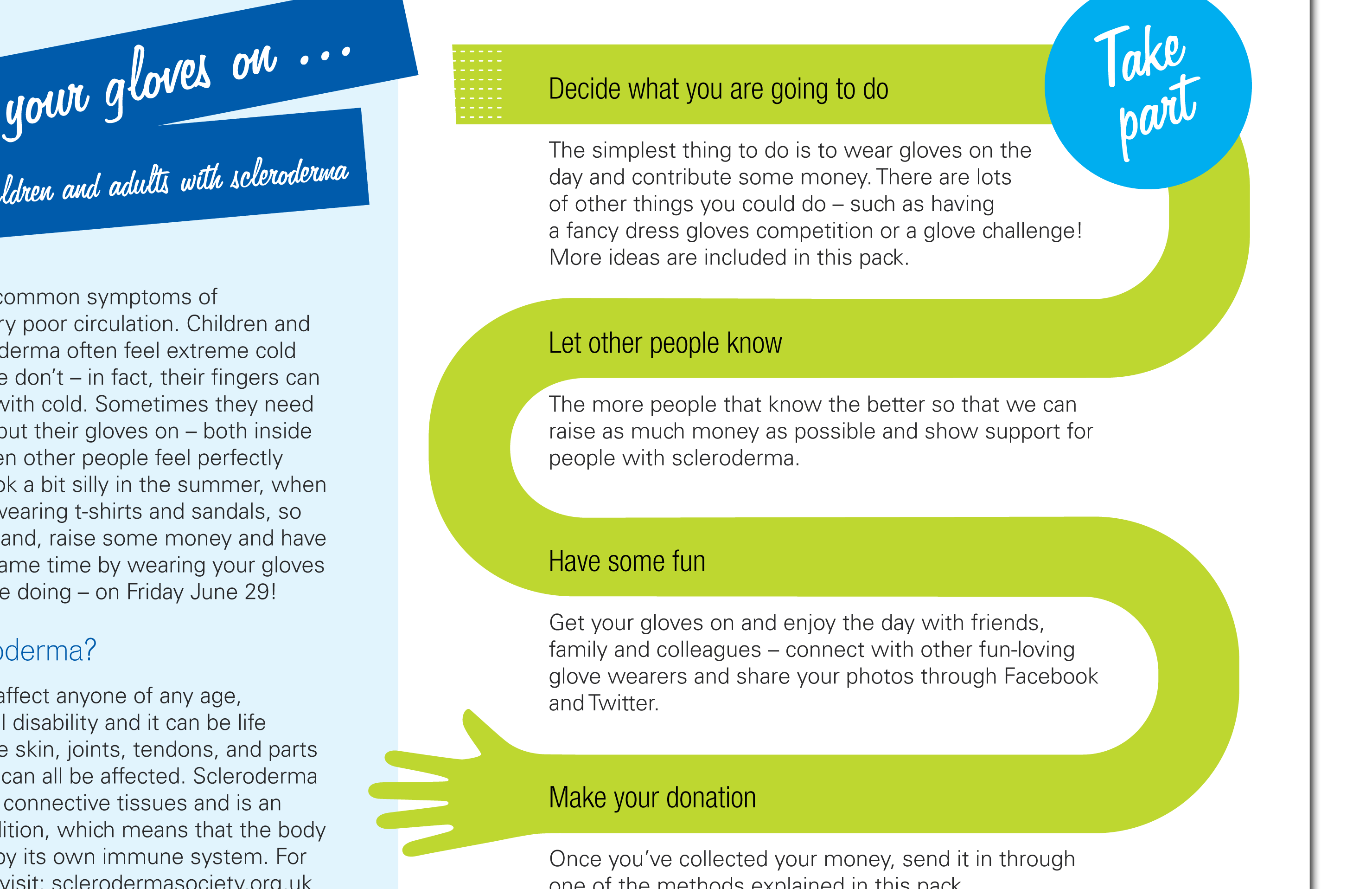 Scleroderma Society – Fundraiser's welcome pack
