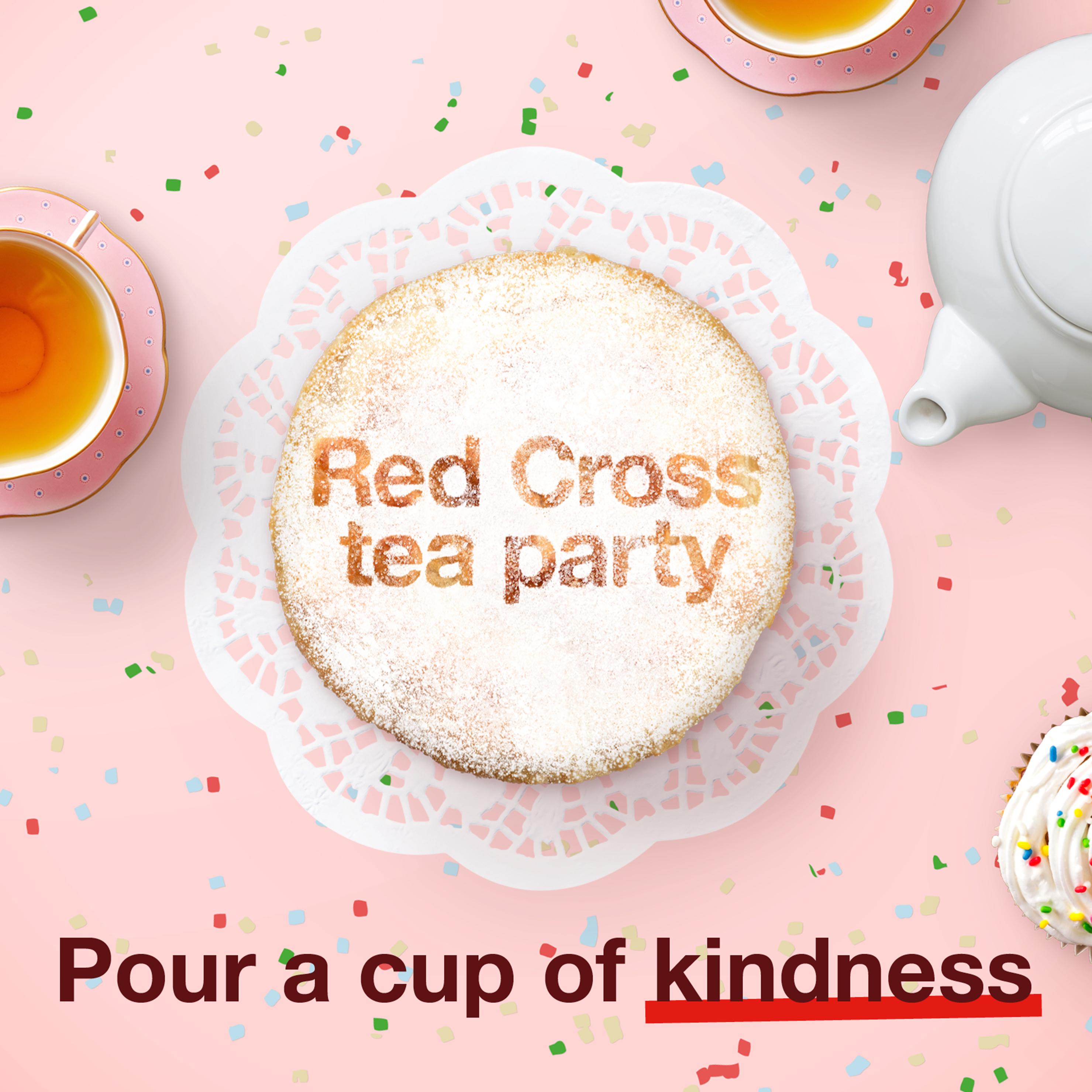 Red Cross tea party